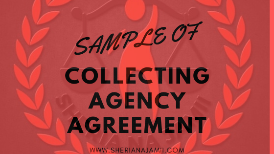 sample of debt collecting agency agreement