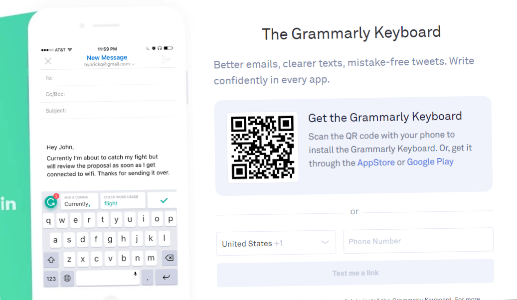 how to install Grammarly keyboard